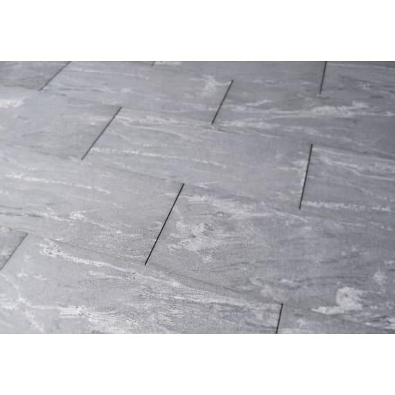 Keramische Terrassenplatte Serie Stein Gneis Schwarz 80 X 40 X 2 0
