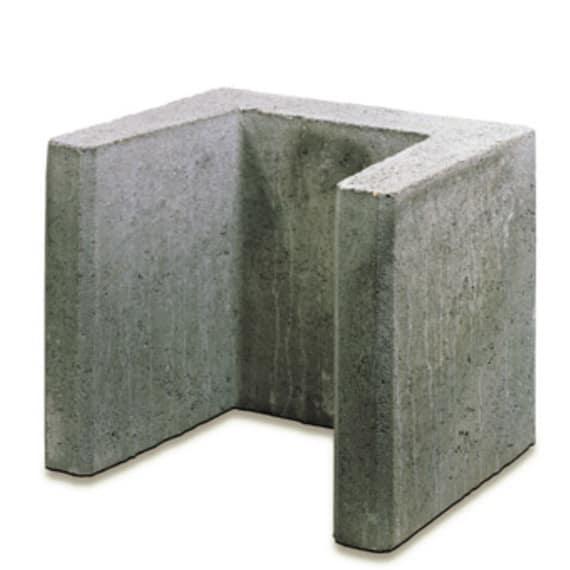 Kann U-Stein, grau, Stk. | Mauerscheiben, L-Steine und U-Steine ...