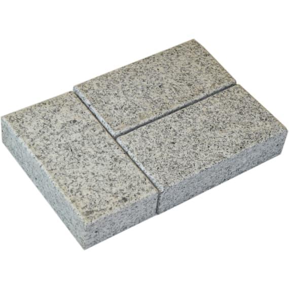 Casafino Granit Klinker Hellgrau 20 X 10 X 5 Cm 1m Naturstein