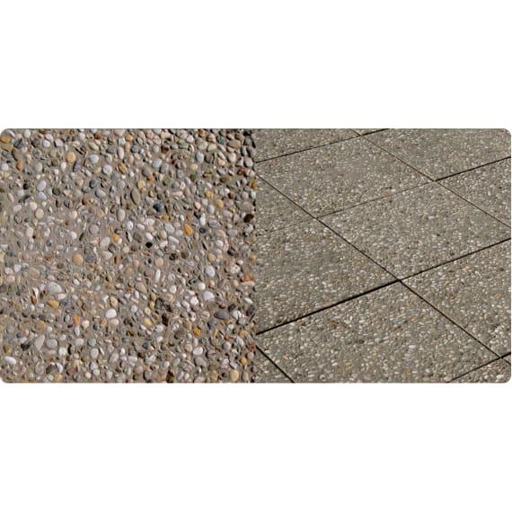Feiner Terrassenplatte Funktional Waschbeton 40 X 40 X 4 Cm Beton