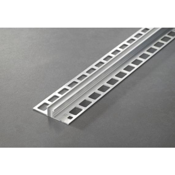 Proline Dehnfugenprofil Aluminium 10mm Silikon Einlage Betongrau