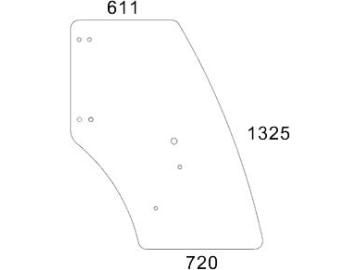 Front oder Heckscheibe Fendt 240S 260S 260P 250S . 250V Gasdruckfeder Tür