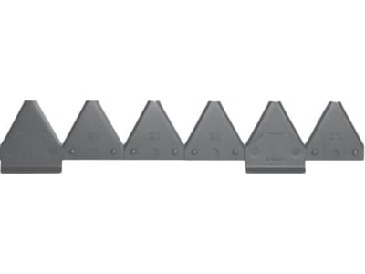 ESM Mähmesser 150 cm, gezahnt, hydraulischer Antrieb, Klingen 20 St. DIN 75 GEZ bzw. 5802 100 01, für Busatis