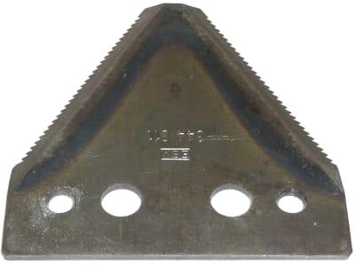 ESM Messerklinge 80 x 76 x 2 mm, gezahnt, für Agria, Barbieri, Bucher, Eurosystems, Eumot, Rasant, Sep, Vogel & Noot