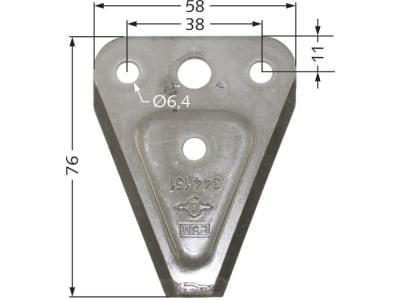 ESM Messerklinge 76 x 58 x 2,7 mm, glatt, für