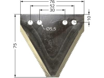 ESM Messerklinge 75 x 76 x 2 mm, gezahnt, für Busatis