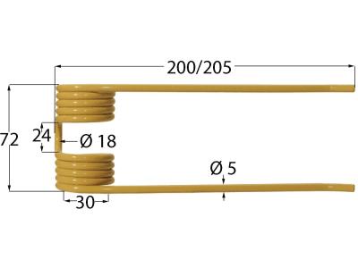 Pick-up Zinken 205 x 72 x 5 mm für Deutz-Fahr, Köla