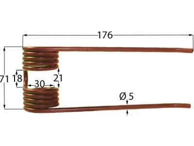 Pick-up Zinken 176 x 71 x 5 mm für Deutz-Fahr, Köla