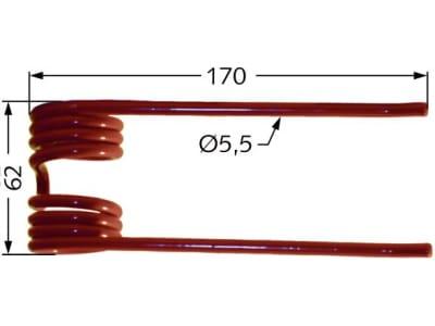 Pick-up Zinken 170 x 62 x 5,5 mm für Deutz-Fahr, Kuhn, PZ Zweegers, Vicon