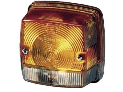 Hella® Blink- und Positionsleuchte eckig, vorn links/rechts, 84 x 84 x 51 mm, Befestigung Anbau; 2 x Schraube M 4, 2BE 003 014-251