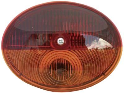 Hella® Schlussleuchte oval, links/rechts, 105 x 79 x 57 mm, waagerecht, Schluss-, Brems- und Blinklicht, 2SB 001 673-002