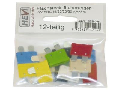 Hevi Sicherungssatz 5 – 30 A Flachstecksicherungen 10 St.