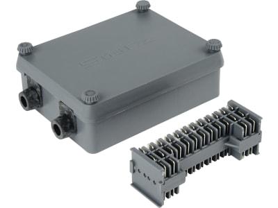 Herth + Buss Kabelverbindungsdose 12-polig, Anschluss 8 x 2 + 4 x 3 Flachsteckanschluss 6,3 mm, 50 290 044