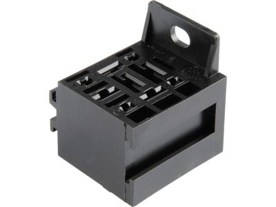 Herth + Buss Relaissockel Flachsteckanschluss 5 x 6,3 mm, 4 x 2,8 mm, mit Halter, Version , 50 290 266