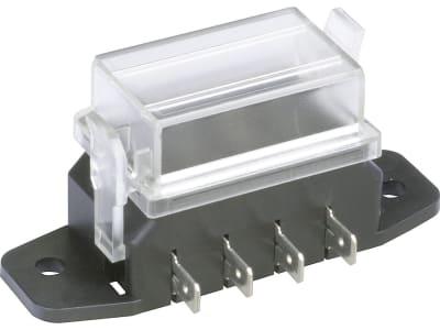 """Herth + Buss Sicherungsdose 79 x 37 x 46 mm, 4-polig, Aufbau für Flachstecksicherungen """"Standard"""", 50 300 424"""