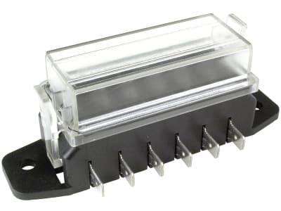"""Herth + Buss Sicherungsdose 98 x 37 x 27 mm, 6-polig, Aufbau für Flachstecksicherungen """"Standard"""", 50 300 624"""