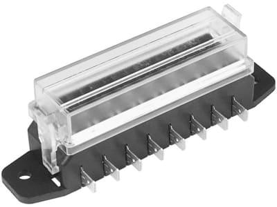 """Herth + Buss Sicherungsdose 119 x 37 x 32 mm, 8-polig, Aufbau für Flachstecksicherungen """"Standard"""", 50 300 824"""