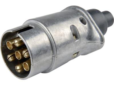 Herth + Buss Stecker 6 – 12 V, 7-polig, Schraubanschluss, Aluminium, 51 305 517