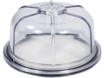 Hücobi Klarsichttasse Plexiglas, ohne Bohrung, für Syphonabscheider RIV, Alu-Ausführung