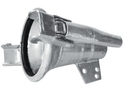 """Hücobi Stahldüse """"Italienisches System"""", 120, Ø Auslass 50 mm, verzinkt, mit MT-Kupplung, 8388 120011"""