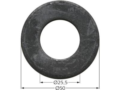 Industriehof® Scheibe 25,5 x 50 x 4 mm für Agrimaster, Maschio, 63-AGM-504