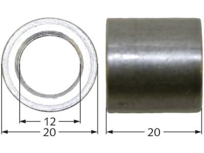 Industriehof® Buchse 20 x 4 mm, Ø innen 12 mm, Ø außen 20 mm, für Votex, 63-VOT-61