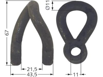 Industriehof® Schäkel gedreht, Bohrung 11,5 mm, für Votex, 63-VOT-63