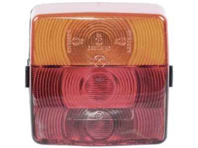 Schlussleuchte links/rechts, Schluss-, Brems-, Blink- und Kennzeichenlicht, 104 x 98 x 55 mm, E1 0153305