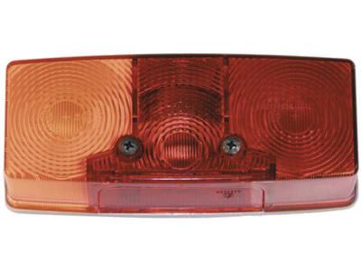 Schlussleuchte, Schluss-, Brems-, Blink- und Kennzeichenlicht, 158 x 64 x 51 mm, E1 0153329