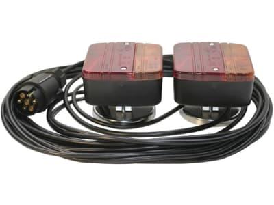 Schlussleuchtensatz, Magnethaftung, Blink-, Brems- und Schlussleuchte, Länge Kabel 7 m