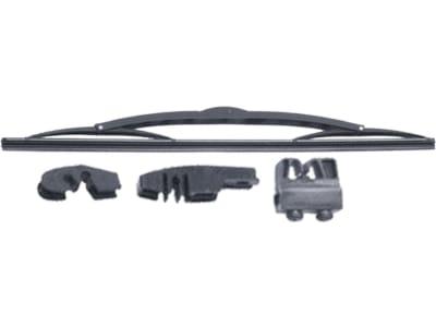 Wischerblatt Länge 400 mm mit drei Adaptern, für Verdeck GT, Case IH XL-Kabine + Vario Cab, MTS und Fiat-Serien