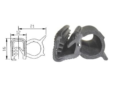 Dichtungsprofil universal für Front-, Seiten- und Heckscheiben mit 5 bis 6 mm Stärke