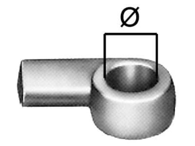 Anschweißöse, Größe 0, Ø 12 mm, 80 mm, lang, zum Anschweißen, für Winkelhebel-, Kasten- und Bügelverschlüsse