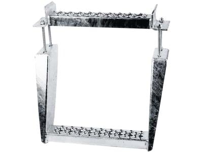 Doppelauftritt verzinkt, für Anhängerschere, Zugdeichsel, mit Schraubensatz