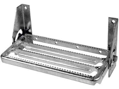 Klapptritt Trittfläche B x T 340 x 160 mm, verzinkt, zum Anschrauben, ohne Schrauben