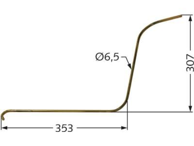 Radrechenzinken 353 x 307 x 6,5 mm, links/rechts für Niemeyer