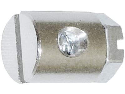 Schraubnippel Ø Kopf 7 mm, Ø Schaft 8 mm, Länge 9 mm, montiert, mit Sechskantschraube M 4 x 6