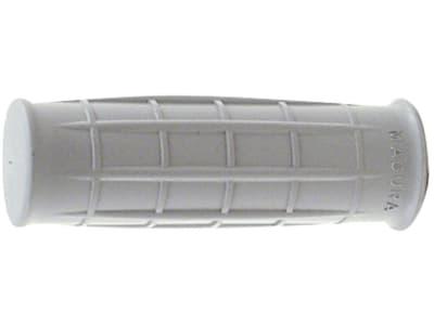 Handgriff einseitig offen, 123 mm, Ø Rohr 33 – 34 mm, Wandstärke 2,50 mm, silbergrau, Kunststoff