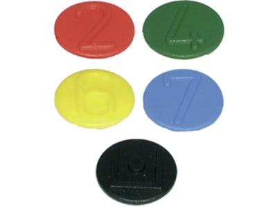 Markierungsclip für Staubschutz mit Klappdeckel für Kupplungsmuffen