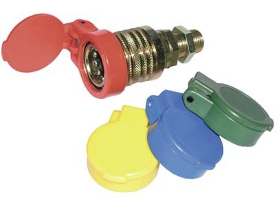 Staubschutz mit Klappdeckel, selbstschließend, für Kupplungsmuffen Standard BG 03