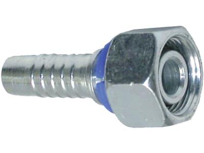 """Dichtkegelnippel """"DKOL"""" leicht, metrisch, zylindrisch, gerade, Aussenkung 24°, O-Ring und Überwurfmutter"""