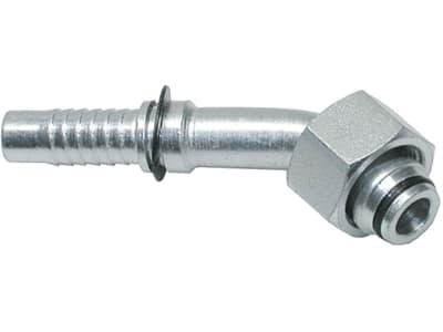 """Dichtkegelnippel """"DKOL"""" 45 °, leicht, metrisch, zylindrisch, Aussenkung 24°, O-Ring und Überwurfmutter"""