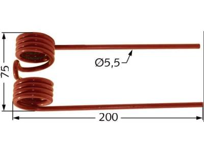 Pick-up Zinken 200 x 75 x 5,5 mm für Welger