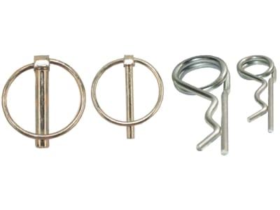 Klapp- und Federstecker-Sortiment DIN 11023; DIN 11024 Ø 2 – 10 mm, 44 St., im Karton, 988 10X472