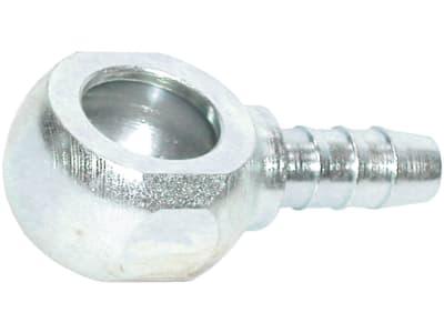 Ringnippel gerade, mit Schlüsselfläche, Stahl, verzinkt, für Polyamidrohr