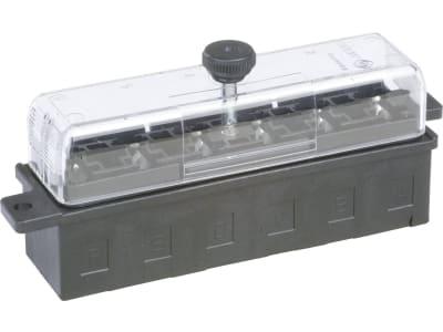 """Herth + Buss Sicherungsdose 110 x 43,5 x 29 mm, 6-polig, mit Flachsteckanschluss für Flachstecksicherungen """"Standard"""", 50 300 628"""