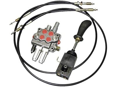 Einhebelsteuerventil dw/dw+S, 45 l/min, Einhebelsteuerung mit 2 Seilzügen 2.000 mm