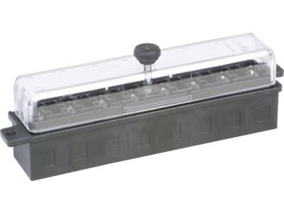 """Herth + Buss Sicherungsdose 142 x 43,5 x 29 mm, 8-polig, mit Flachsteckanschluss für Flachstecksicherungen """"Standard"""", 50 300 818"""
