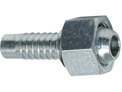 """Dichtkegelnippel """"DKL"""" leicht, metrisch, zylindrisch, gerade, Aussenkung 24°/60°, Überwurfmutter"""
