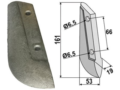 Industriehof® Säschar, 19 x 161 x 53 mm, 2-Loch für Saxonia, 99.SA-01